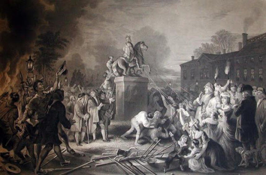 Pulling Down the Statue of George III | Teach US History